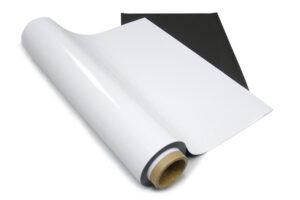 Полимерное железо 0,4мм с белым PVC покрытием (0,62*30,5м)