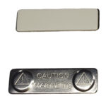 Магнитный держатель для бейджа 45х13мм (металл)