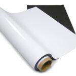 Магнітний лист 0,7 мм (0,62*30,5м) з білим матовим покриттям ПВХ