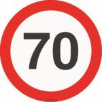 "Магнитная наклейка на авто ""знак 70"""