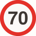 "Магнітна наліпка на авто знак ""70"""